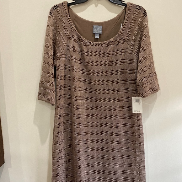 Rabbit Rabbit Rabbit Dresses & Skirts - tan crochet dress
